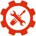Gear Icon Red