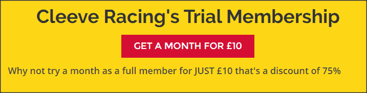Get Cleeve racing for just £10 for a month
